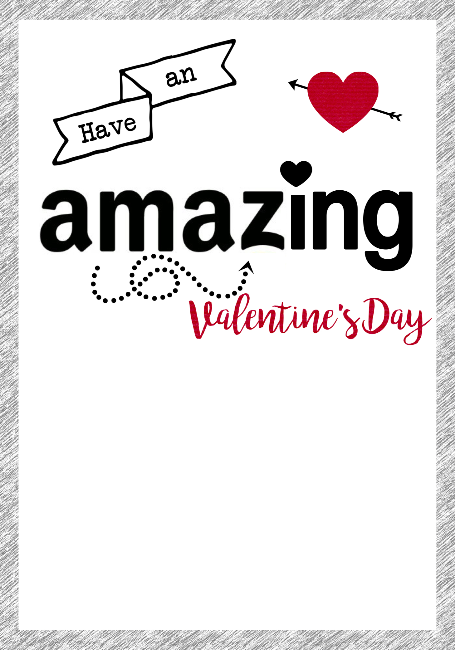 photograph regarding Amazon Gift Card Printable named Amazon Valentine Card Printable - Paper Path Layout