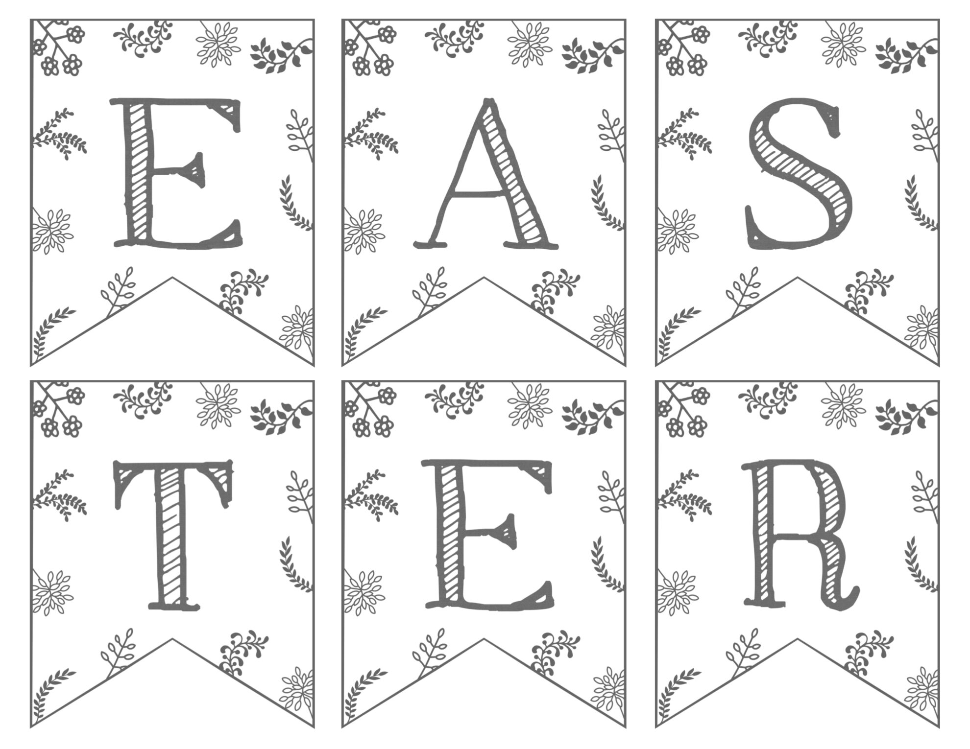 Design a banner to print - Happy Easter Banner Free Printable Page 2