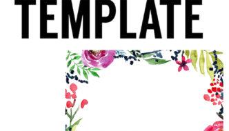 Floral Borders Invitations {Free Printable Invitation Templates}