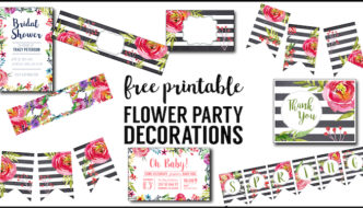 Flower Party Printables {Free Printable Decorations}