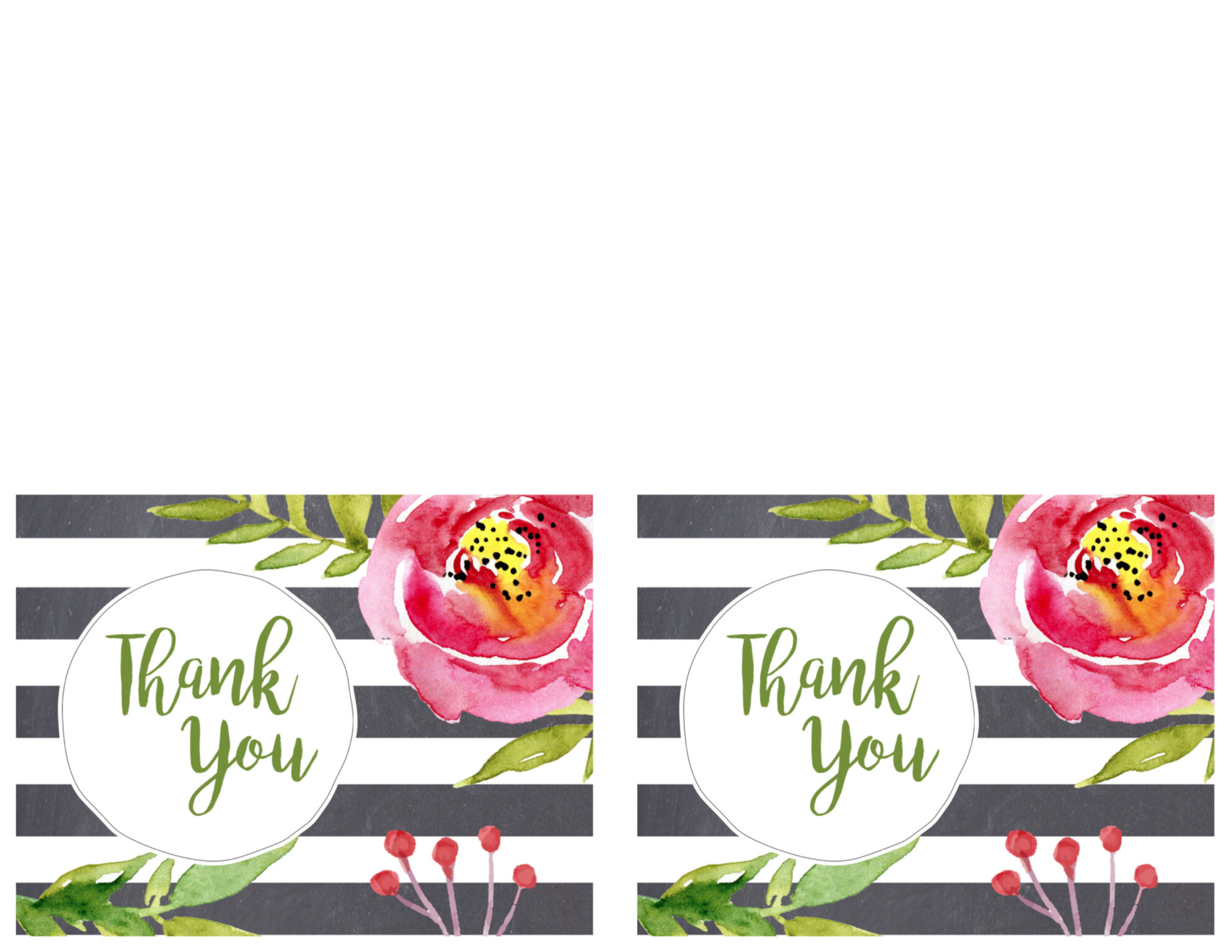 Free Printable Greeting Cards {Thank You, Thinking of You ...