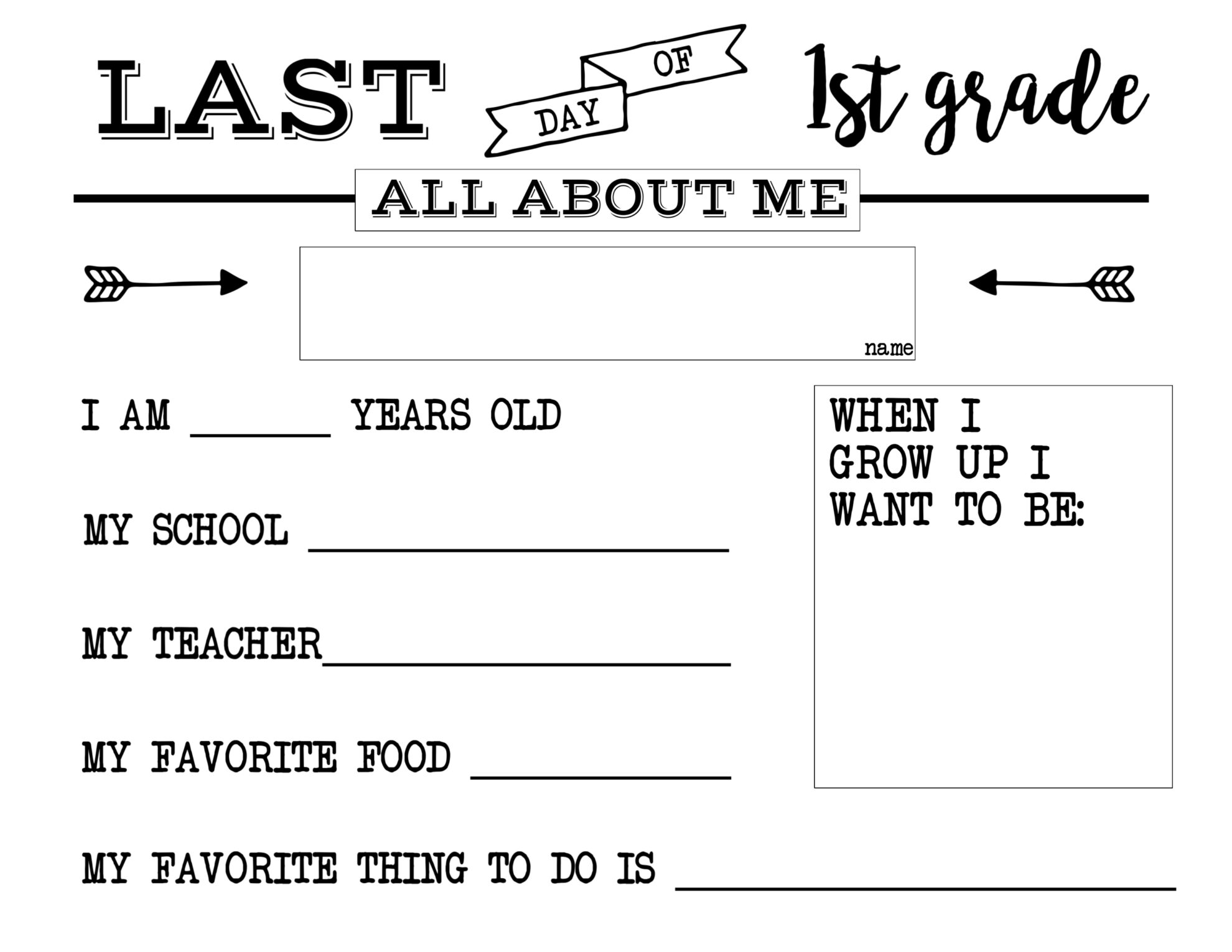 Amazing image with regard to all about me printable preschool