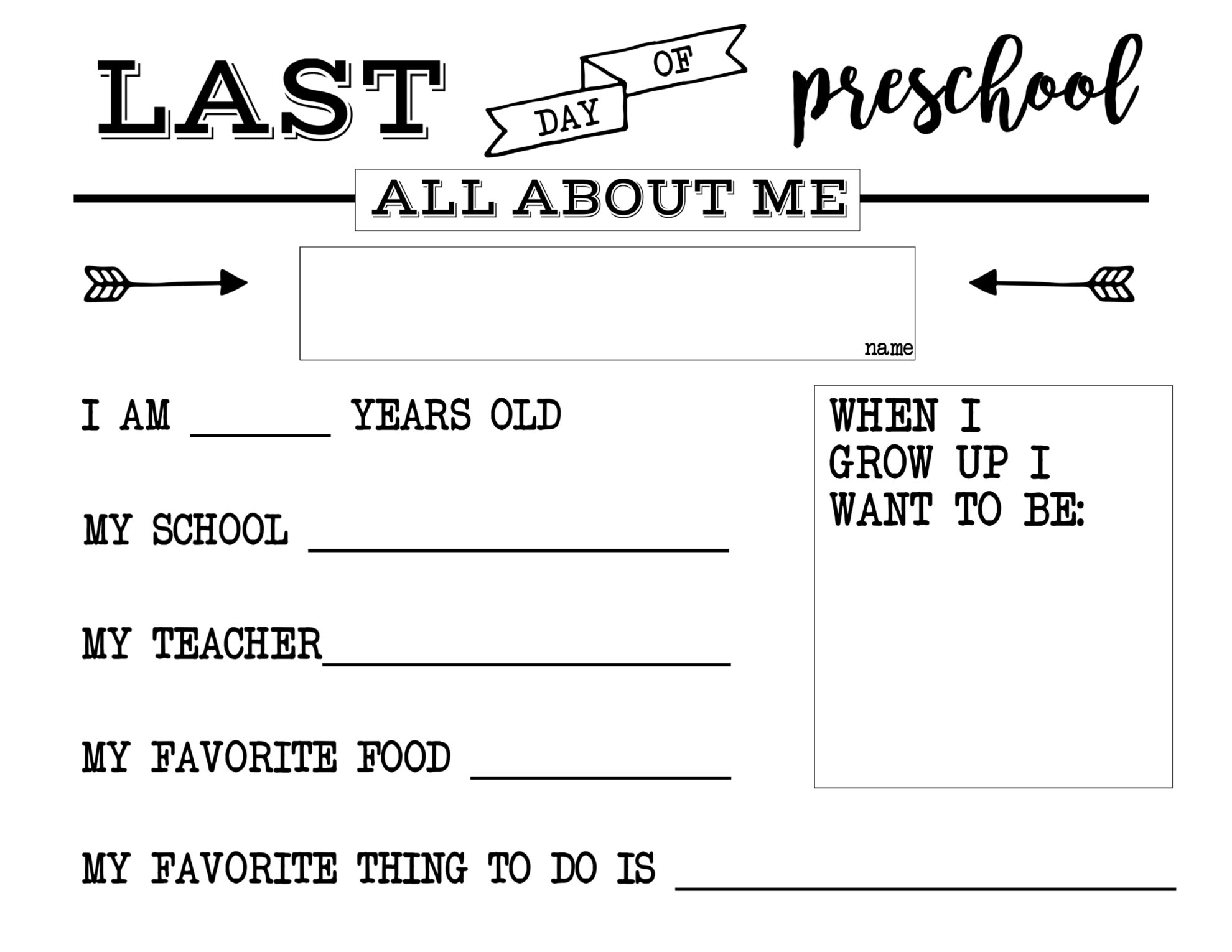 photograph about Last Day of Preschool Sign Printable known as Remaining Working day of College or university No cost Printable All More than Me Indicator - Paper
