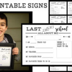 Last Day of School Free Printable All About Me Sign. End of year printable sign for preschool, kindergarten, first grade through senior year.