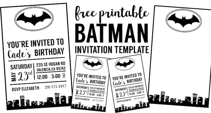 Birthday Invitations Free Printable Templates