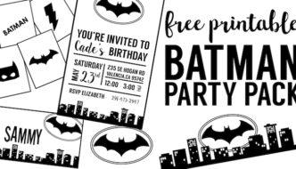 Free Batman Party Printables