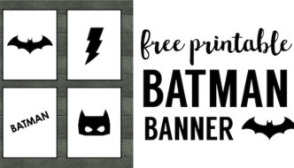 Batman Party Banner Free Printable