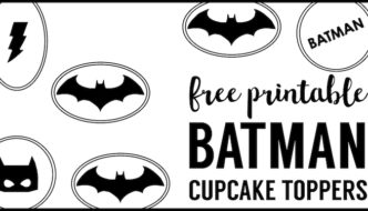 Batman Cupcake Topper Printables