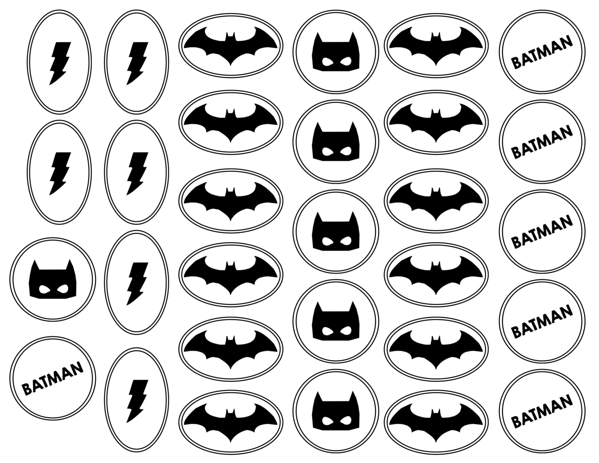 photograph regarding Batman Cupcake Toppers Printable identify Batman Cupcake Topper Printables - Paper Path Design and style