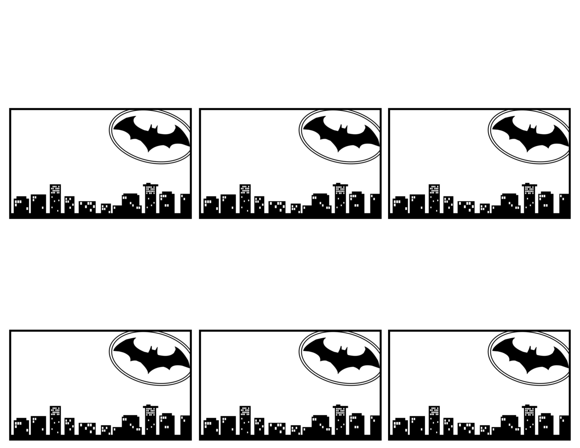 Batman Name Tag Cards