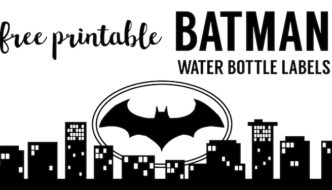 Batman Water Bottle Label {Free Printable}