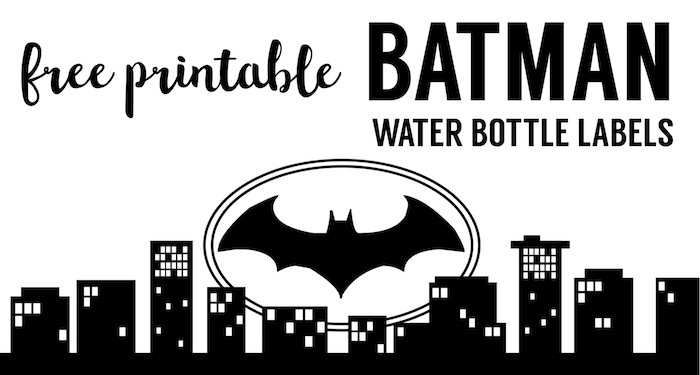 Batman Water Bottle Label Free Printable Easy DIY Or Juice Box Wrapper