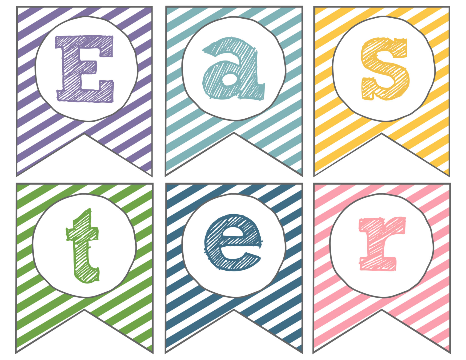 graphic relating to Easter Printable identified as Easter Banner Cost-free Printable Pleased Easter - Paper Path Layout