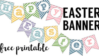 Easter Banner Free Printable {Happy Easter}