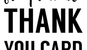 Free Thank You Cards Print {Free Printable Black and White Thank You Card}