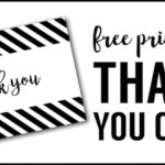 Free Thank You Cards Print. Free Printable DIY thank you card in black and white brush script. Get these printable thank you cards free.