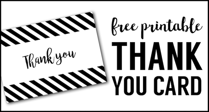 Gargantuan image with regard to free printable thank you cards black and white