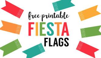 Fiesta Cupcake Toppers free printable flags. Fiesta party decor. DIY Cinco de Mayo cupcake toppers. Cinco de Mayo decorations. DIY Fiesta Party decorations.