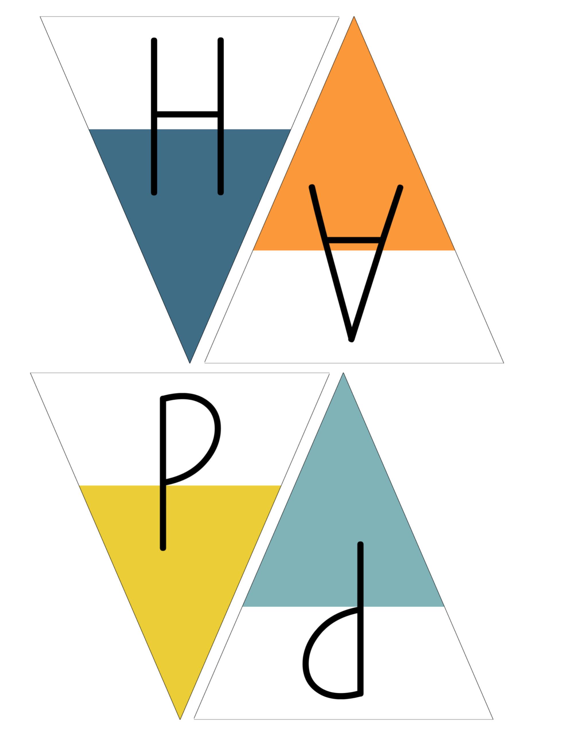 Free Printable Happy Birthday Banner - Paper Trail Design