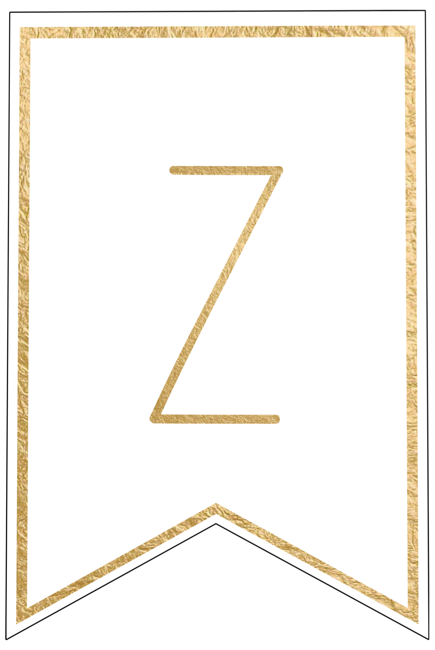 Z  Th Cut Out In Gold Letters Template on