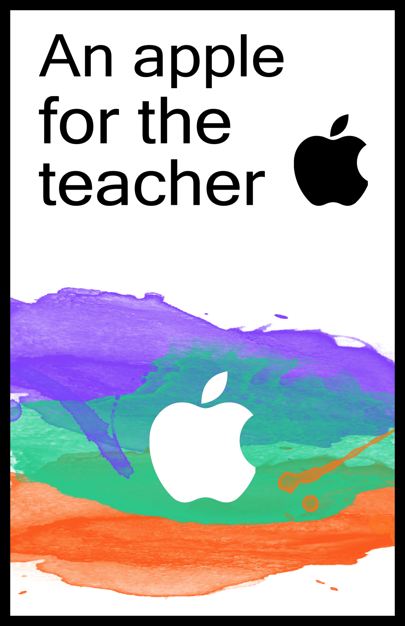 Apple Teacher Printable iTunes Gift Card Holder - Paper Trail Design