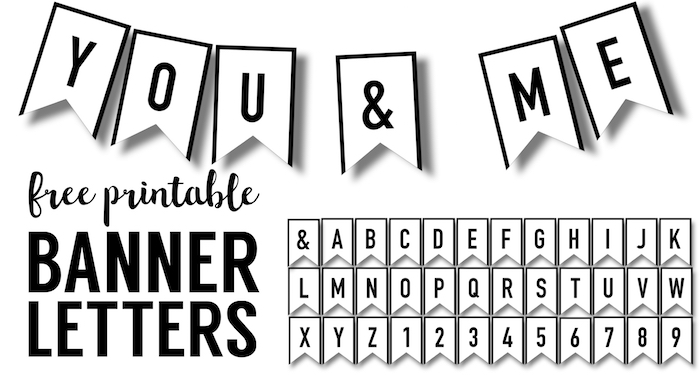 banner templates free printable abc letters paper trail design. Black Bedroom Furniture Sets. Home Design Ideas