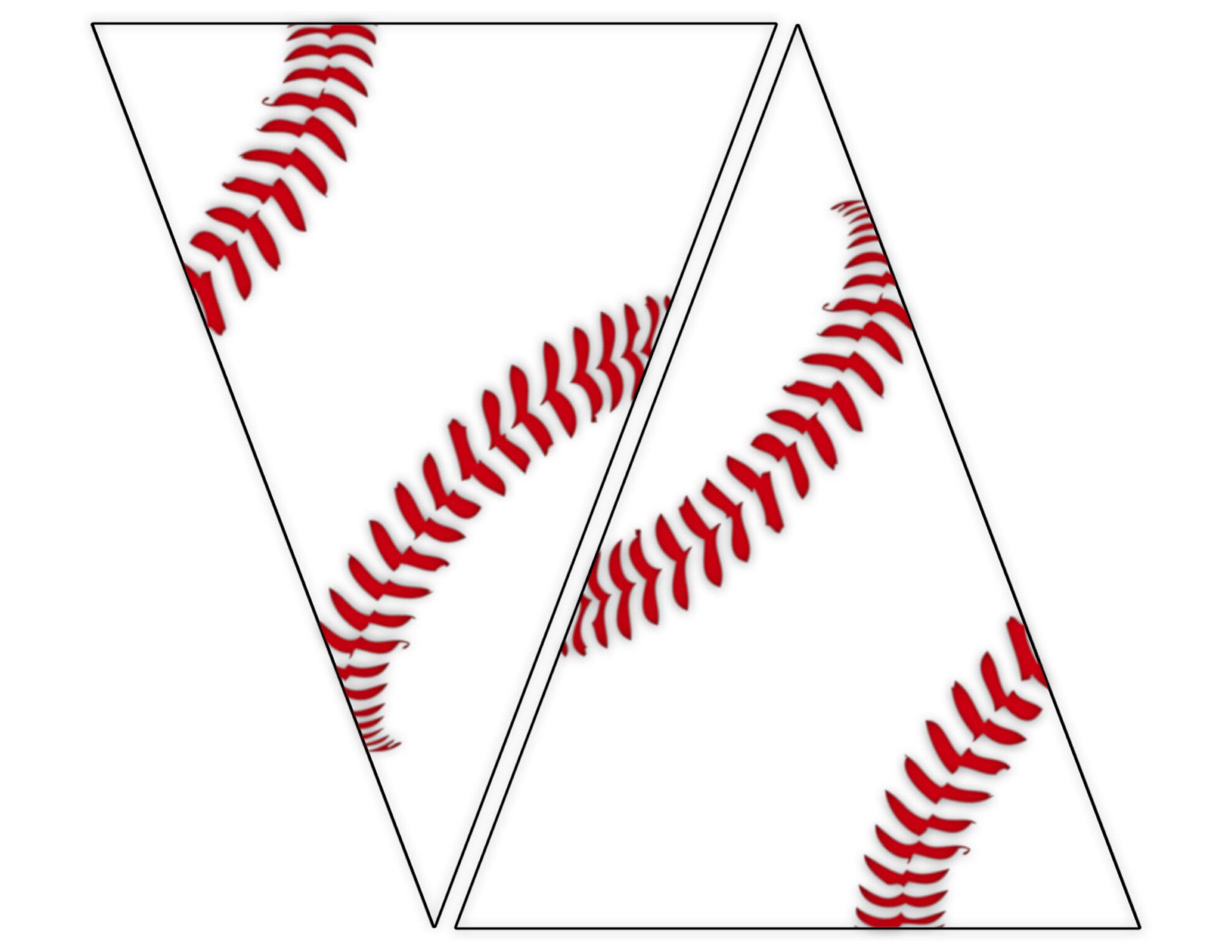 photo relating to Baseball Printable identified as Absolutely free Printable Baseball Banner baseball social gathering decorations