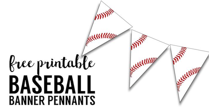Free Printable Baseball Banner Baseball Party Decorations