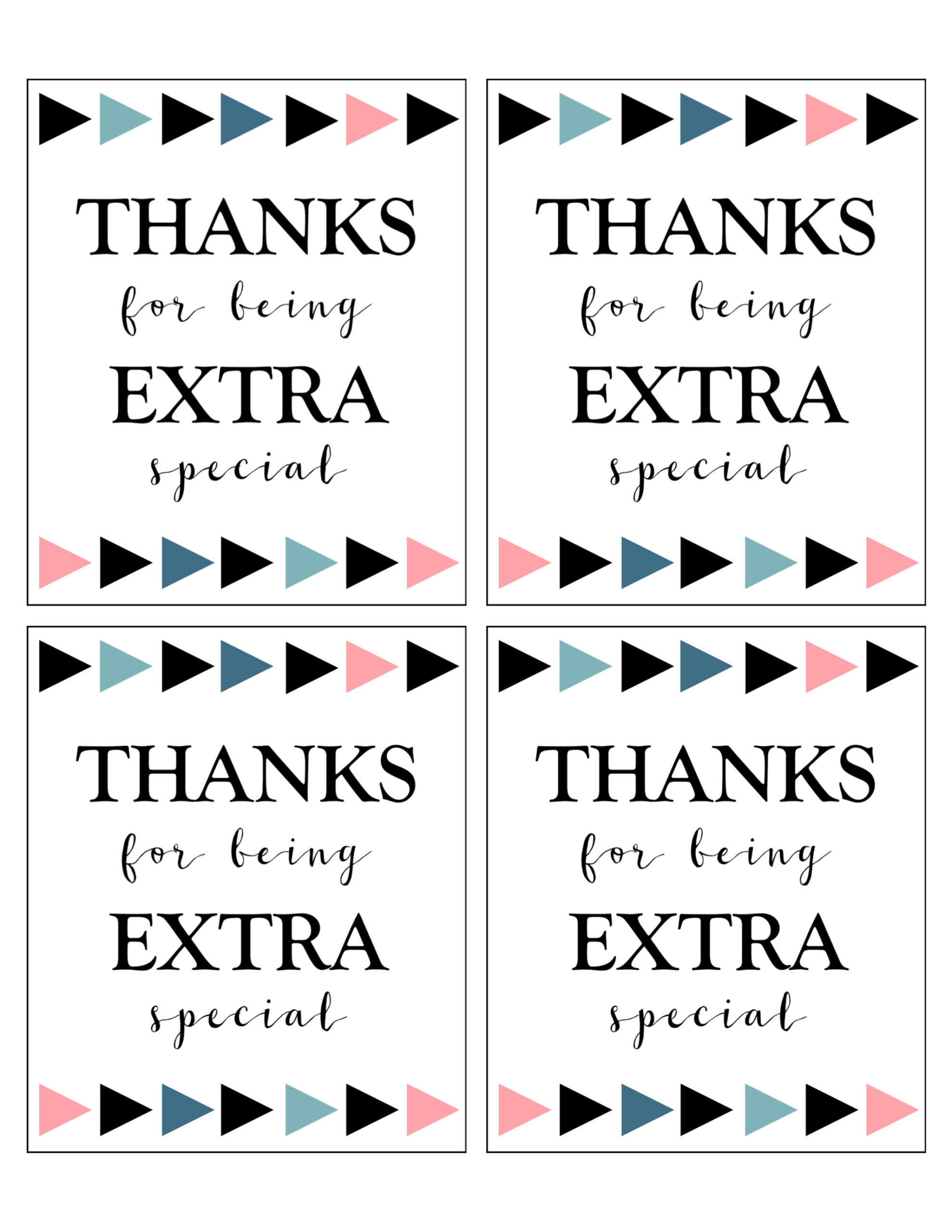 Extra Gum Thank You Printable Paper Trail Design
