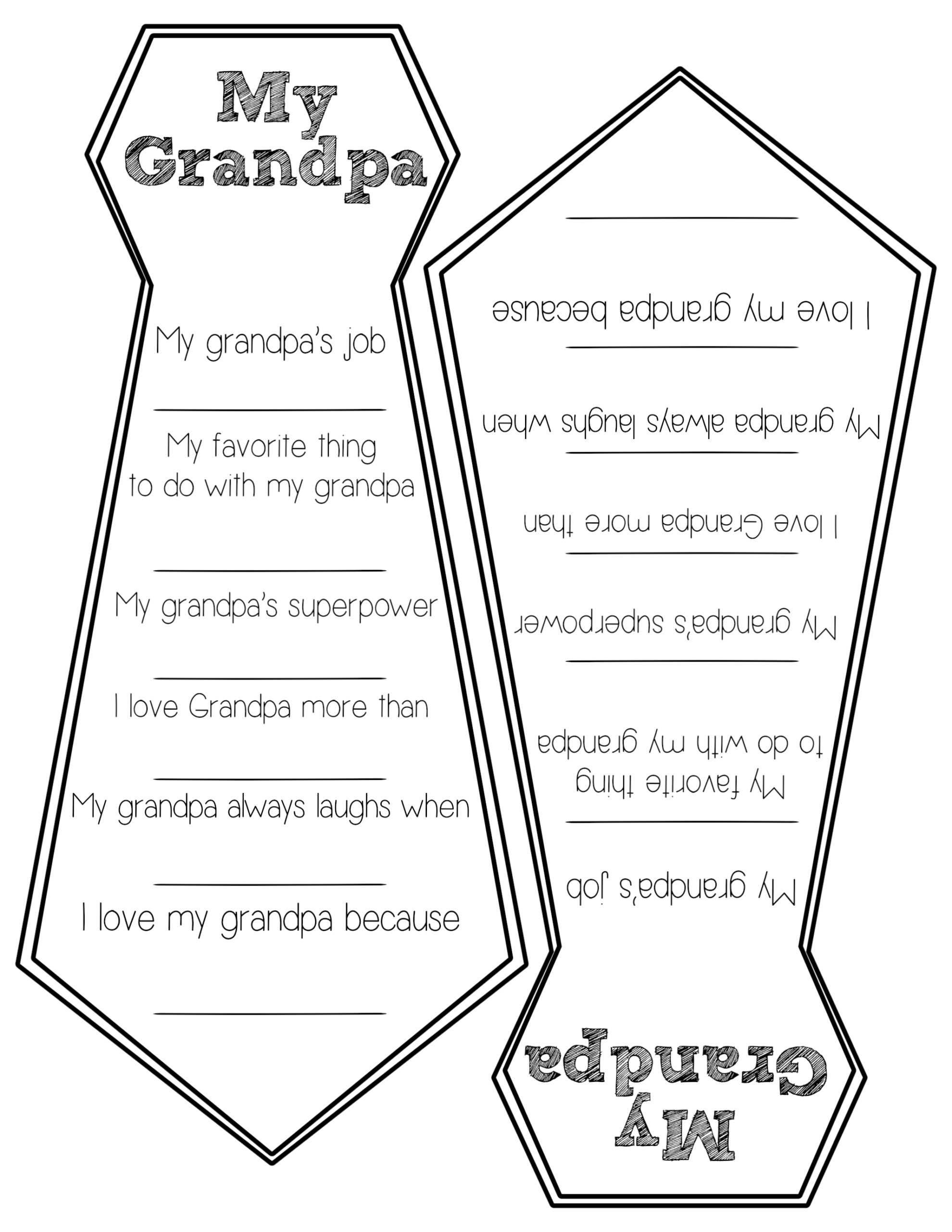 image relating to All About My Papa Printable identify Fathers Working day Free of charge Printable Playing cards - Paper Path Design and style