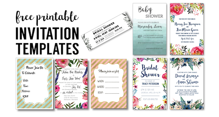 party invitation templates free printables