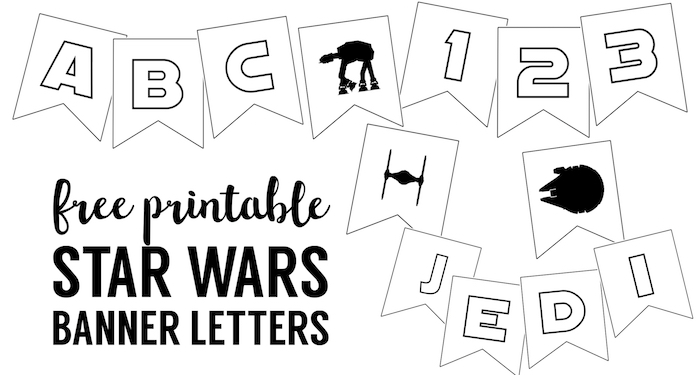 Star Wars Printables Free Printable Banner