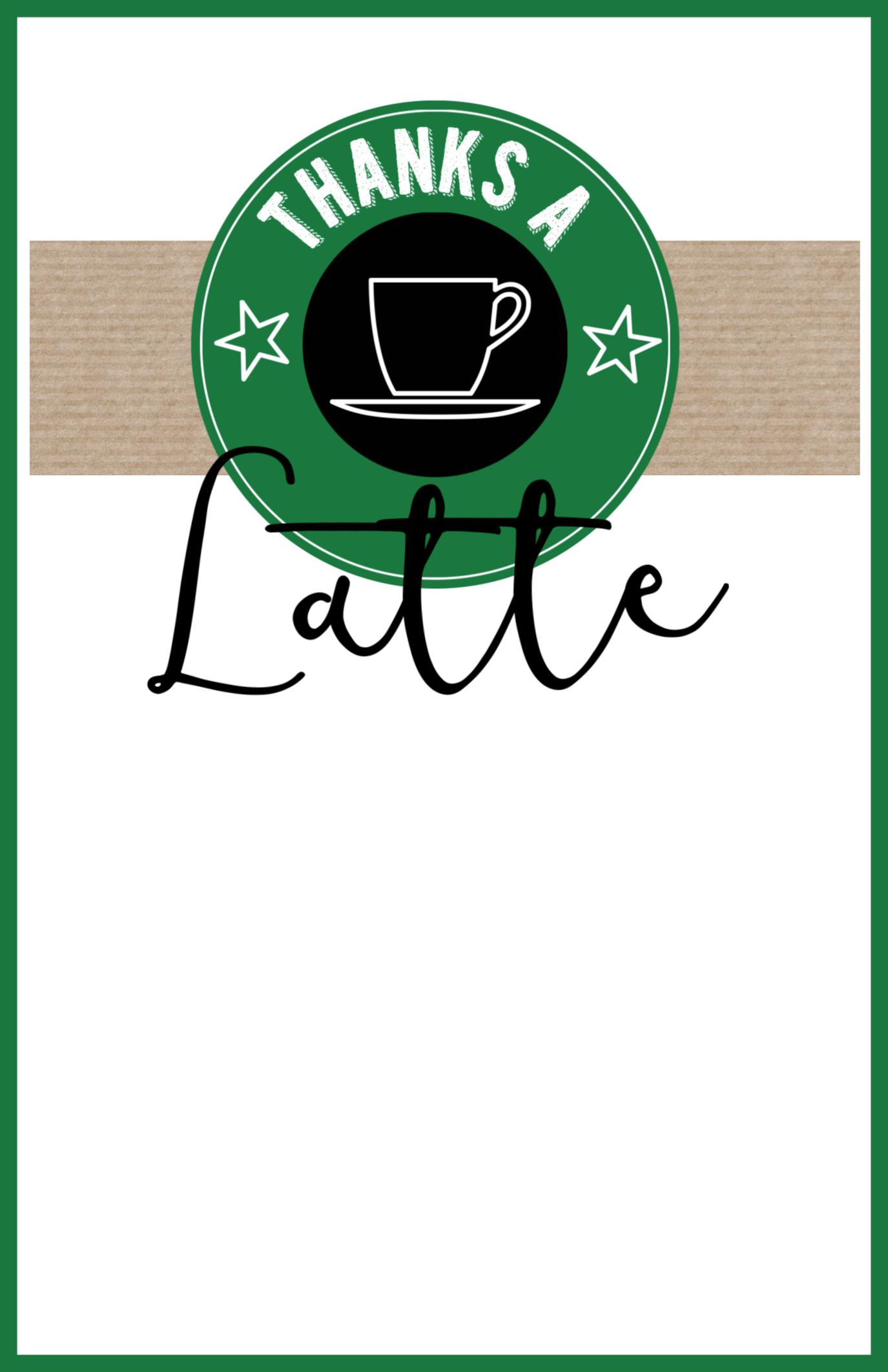 Starbucks Teacher Thank You Printable - Paper Trail Design