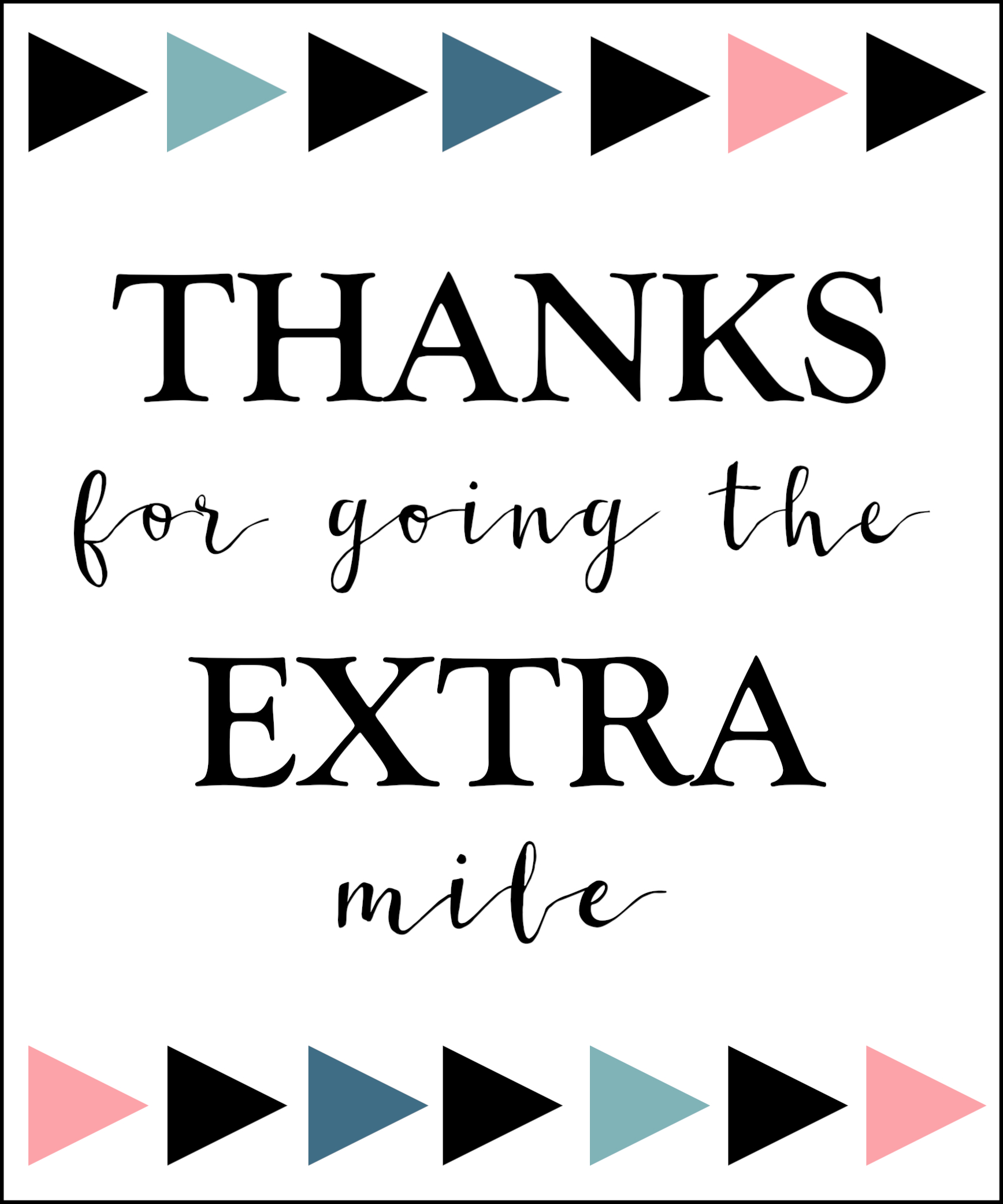 graphic regarding Thanks for Going the Extra Mile Printable identified as More Gum Thank Oneself Printable - Paper Path Layout