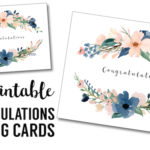 Congratulations Card Printable {free printable greeting cards}. DIY congratulations greeting cards for graduation, baby shower, bridal shower, or wedding.