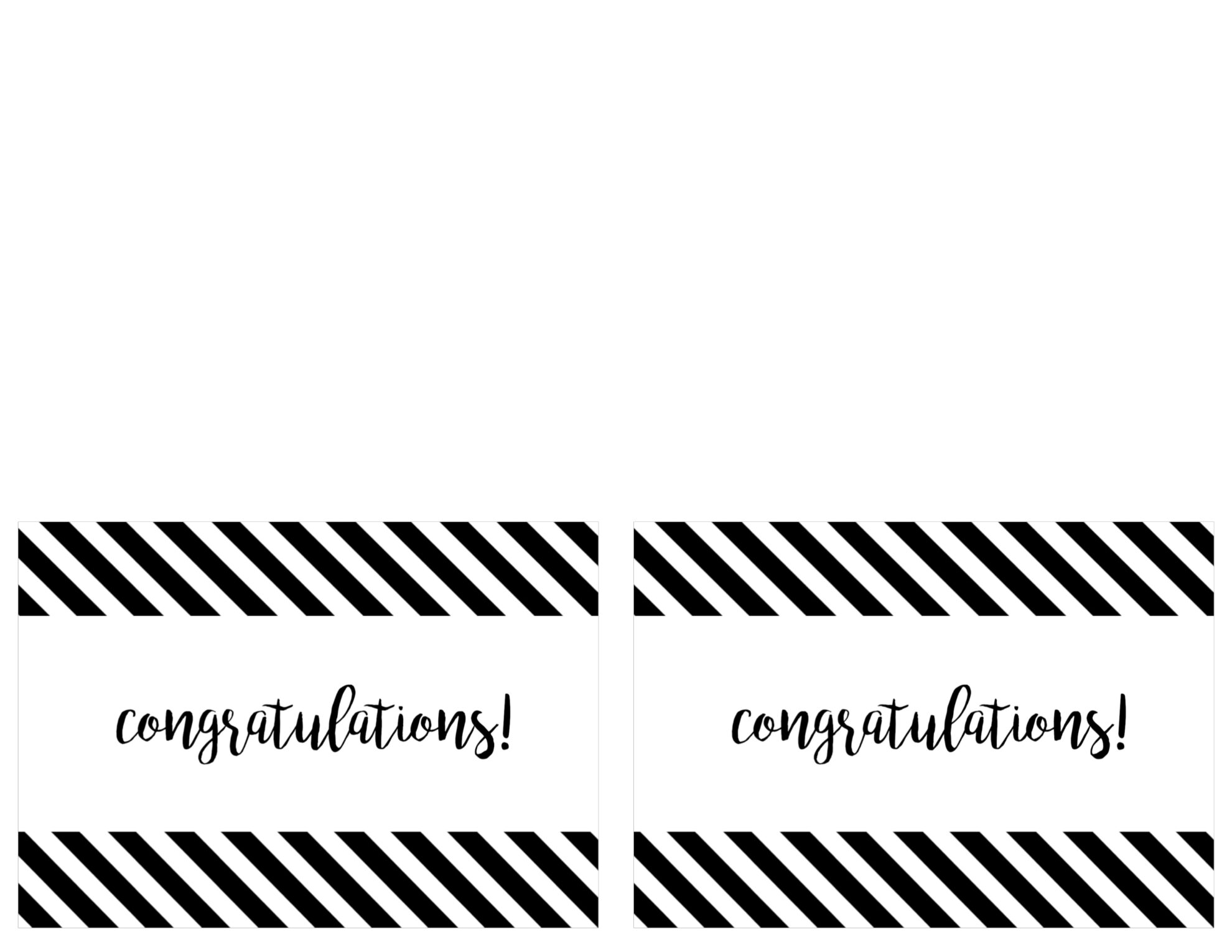 congratulations cards printable two per page