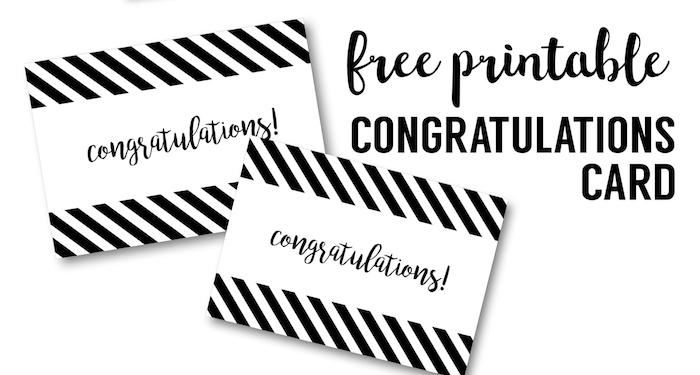 Free Printable Congratulations Card - Paper Trail Design