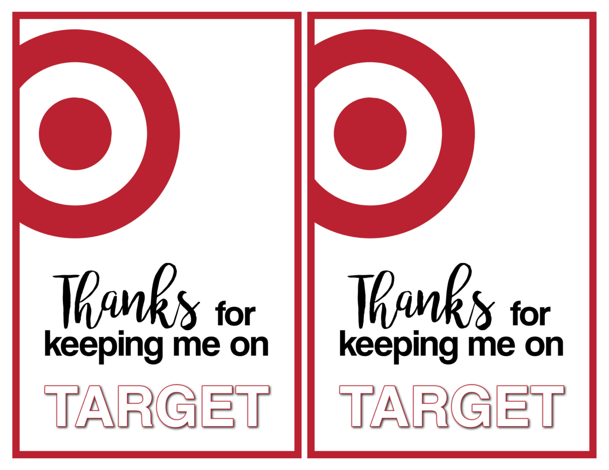 Target thank you cards free printable paper trail design target thank you printable card 2 per page negle Choice Image