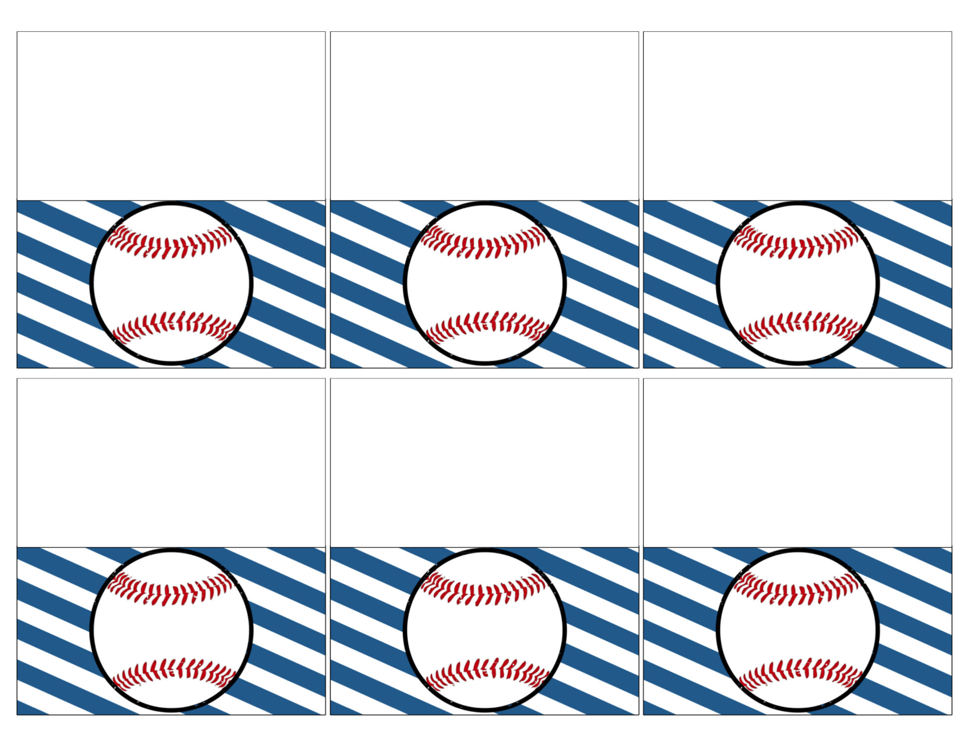 graphic regarding Free Printable Baseball Tags known as Baseball Location Card Holders Totally free Printable - Paper Path Style