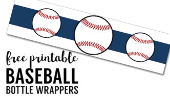 Free Printable Baseball Water Bottle Labels. Free water bottle labels printable for baseball birthday party, baby shower, world series party, or team party.