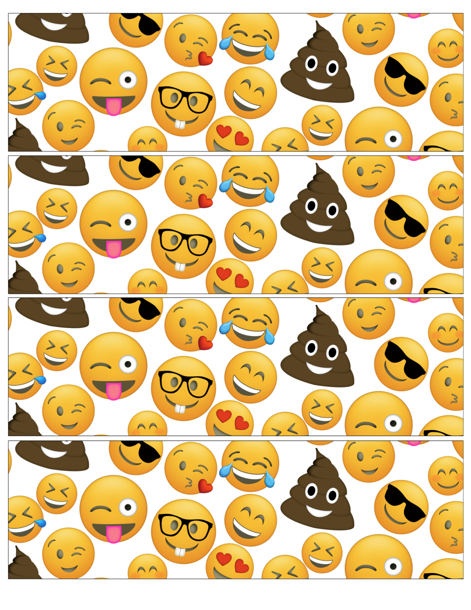 Emoji Water Bottle Labels Free Printable Paper Trail Design