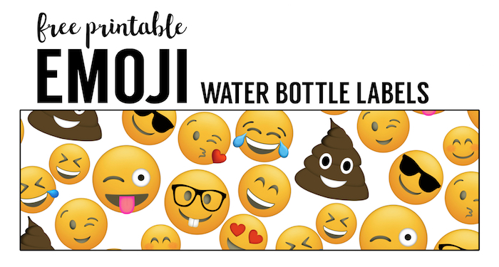 Emoji Water Bottle Labels Free Printable Paper Trail Design