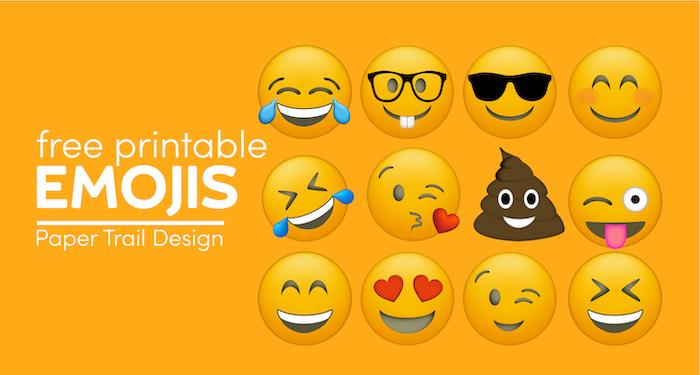 free printable emoji faces with text overlay- free printable emojis