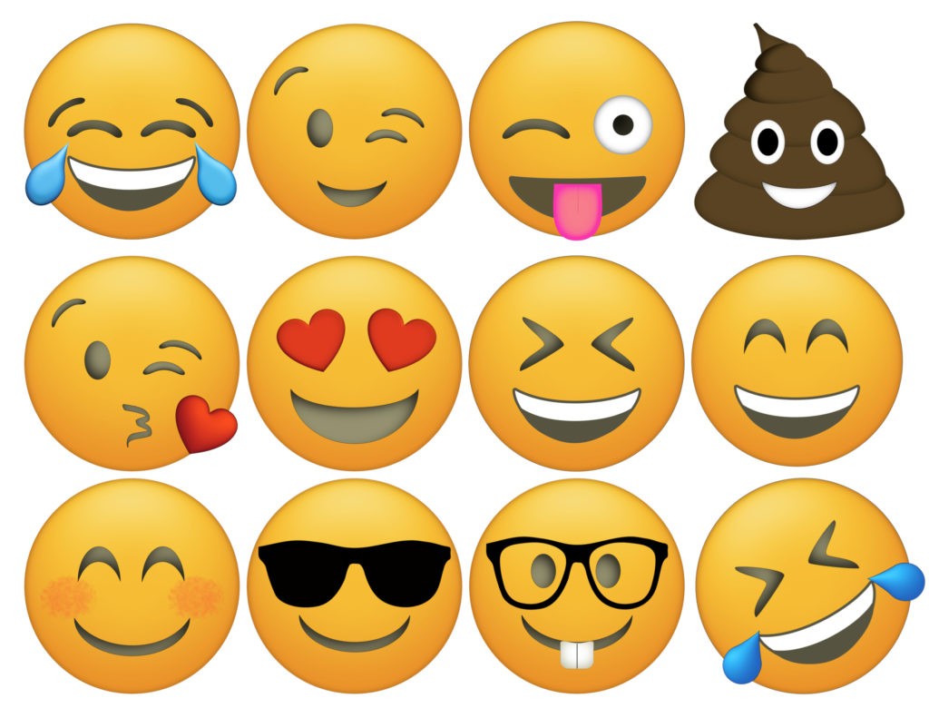 It is a graphic of Current Printable Emoji Faces