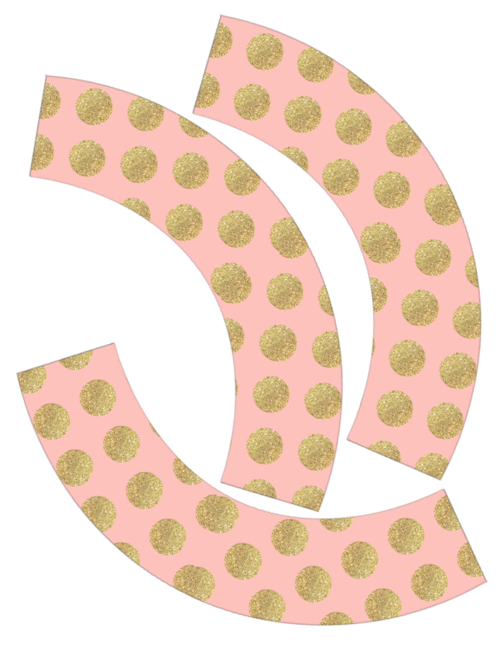 Pink & Gold DIY Cupcake Wrappers Free Printable - Paper Trail Design