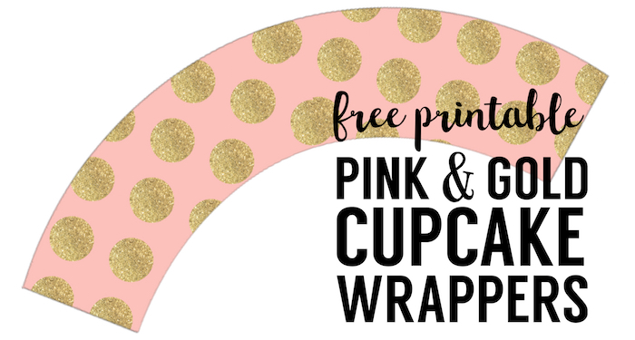 Pink Amp Gold Diy Cupcake Wrappers Free Printable Paper