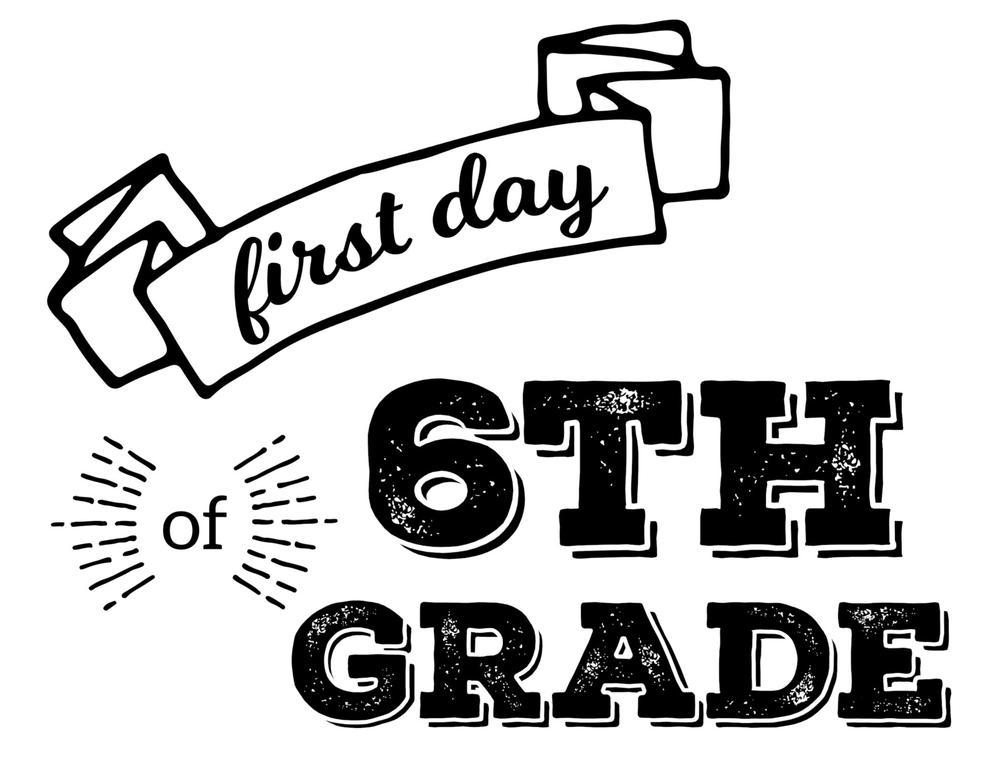 It is a picture of First Day of 1st Grade Printable Sign with grade 3