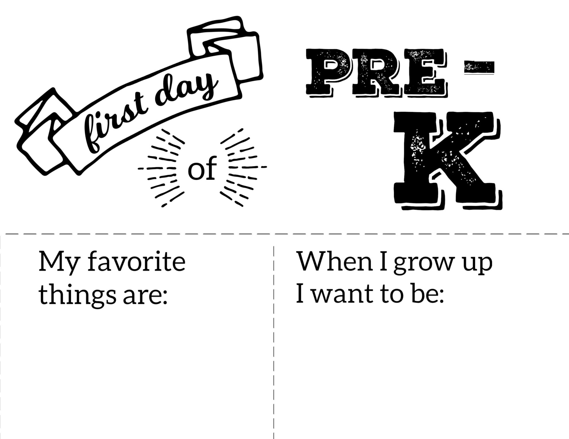 It is an image of Crazy First Day of Pre K Printable Sign