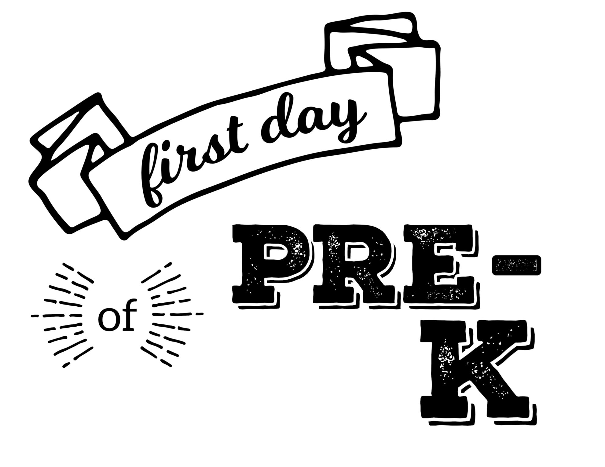 graphic regarding First Day of Pre K Sign Printable titled Totally free Printable Very first Working day of College Symptoms - Paper Path Structure