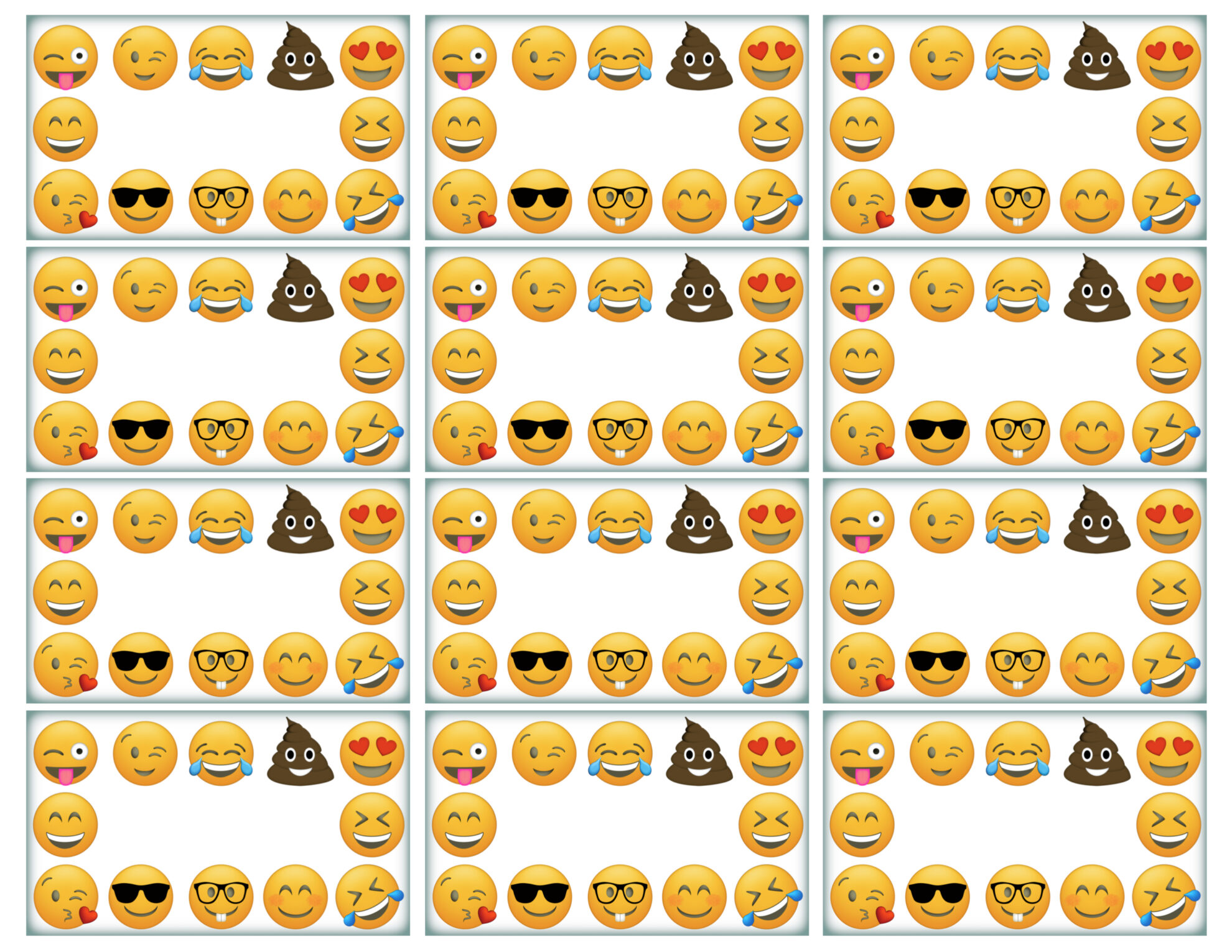 graphic about Printable Emoji Stickers titled Emoji Labels, Emoji Point Playing cards, Emoji Foods Labels - Paper